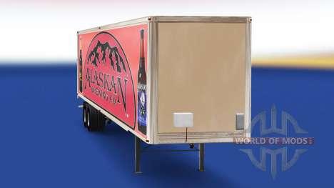 Skin Alaskan Brewing Company on the trailer for American Truck Simulator
