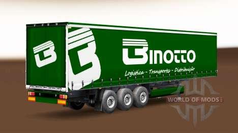 Binotto Transportes skin for trailer curtain for Euro Truck Simulator 2