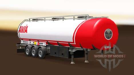 Skin Avia on fuel semi-trailer for Euro Truck Simulator 2