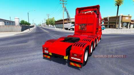 Dom Toretto skin for truck Scania T for American Truck Simulator