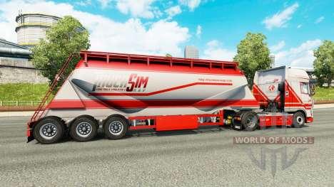 TruckSim skin on the semitrailer-cement truck for Euro Truck Simulator 2