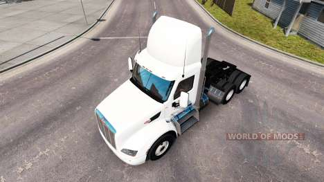 Skin Ace Beverages on the tractor Peterbilt for American Truck Simulator