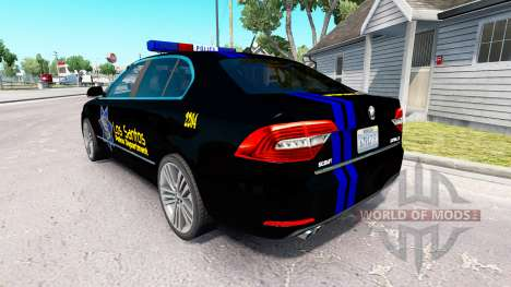 LSPD skin for the Skoda Superb for American Truck Simulator