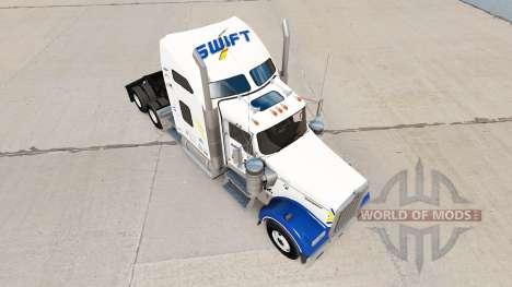 Скин Swift Transportation v1.1 на Kenworth W900 for American Truck Simulator