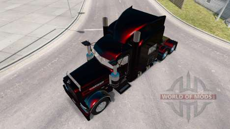 Скин Black Metallic Stripes на Peterbilt 389 for American Truck Simulator