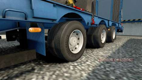 Double wheels for trailers for Euro Truck Simulator 2