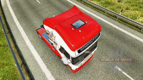 Sarantos transport skin for Scania truck for Euro Truck Simulator 2