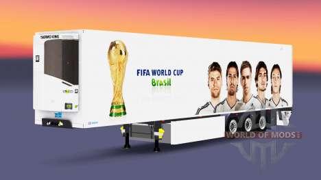 Semitrailer reefer EN FIFA World Cup for Euro Truck Simulator 2