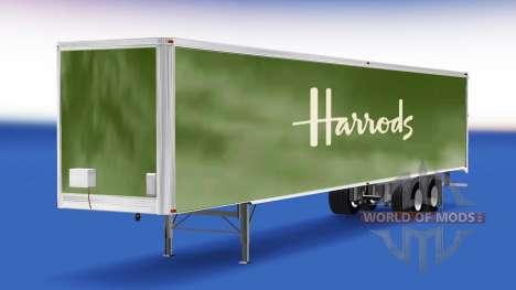 Skin Harrods on the trailer for American Truck Simulator