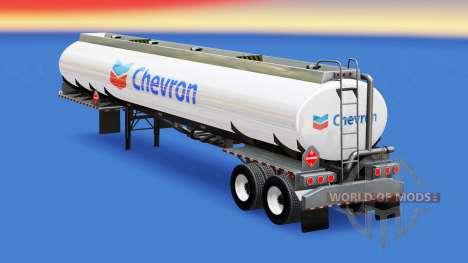 Skin Chevron in the fuel tank for American Truck Simulator