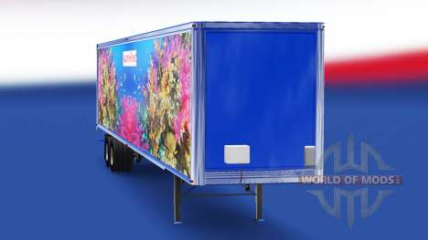 Skin Fish v4.0 on the semi-trailer for American Truck Simulator