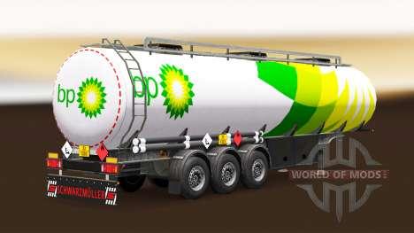 Skin BP fuel semi-trailer for Euro Truck Simulator 2