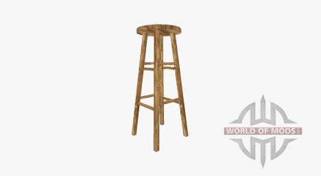 Wooden bar stool for Farming Simulator 2017
