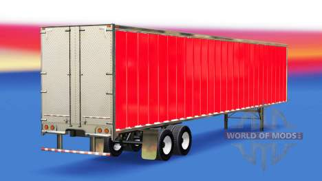 Skin Red on the trailer for American Truck Simulator