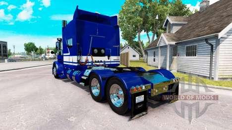 Скин Jack C. Moss Trucking Inc. на Peterbilt 389 for American Truck Simulator
