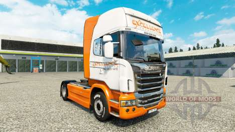 Excellence Transportes skin for Scania truck for Euro Truck Simulator 2