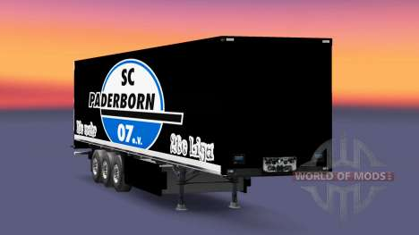 Skin SC Paderborn 07 on semi for Euro Truck Simulator 2