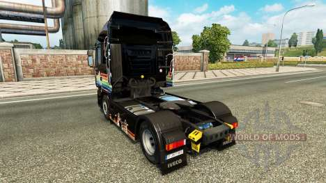 Rainbow Dash skin for Iveco tractor unit for Euro Truck Simulator 2