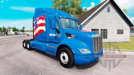 Skin Walmart USA truck Peterbilt for American Truck Simulator