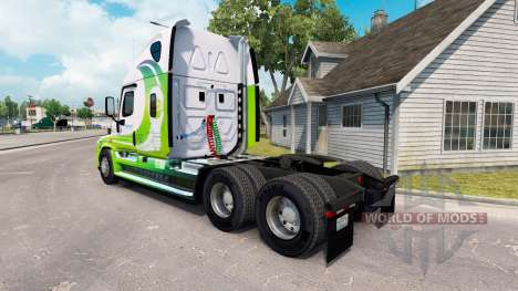 Skin Hybrid tractor Freightliner Cascadia for American Truck Simulator