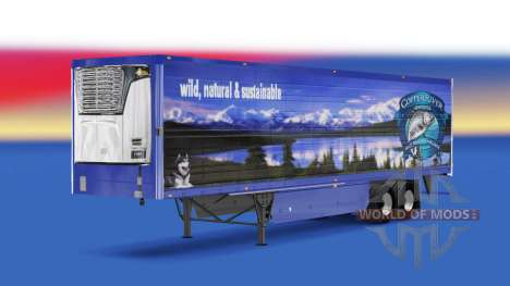Skin Copper River Seafoods v2.0 on the semi-trai for American Truck Simulator