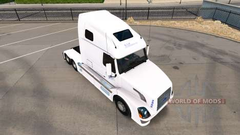 Skin B. A. H. Express truck Volvo VNL 670 for American Truck Simulator