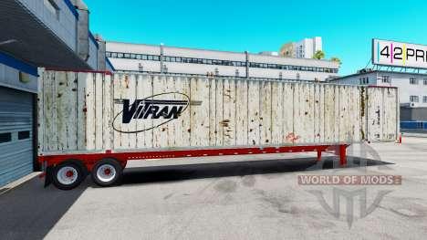 Semitrailer container Vitran for American Truck Simulator