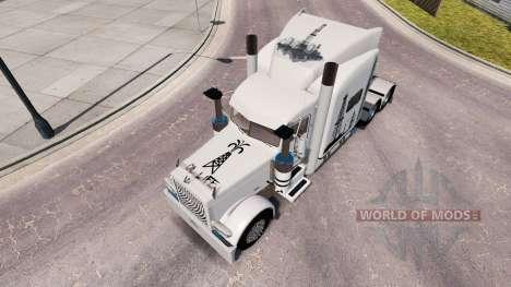 Skin Life Oil for the truck Peterbilt 389 for American Truck Simulator
