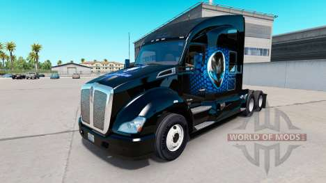 Alienware skin for Kenworth tractor for American Truck Simulator