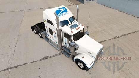 Скин United States Postal на Kenworth W900 for American Truck Simulator