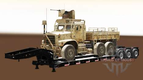 Semi carrying military equipment v1.5 for Euro Truck Simulator 2