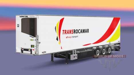 Semi-trailer refrigerator Chereau Transrocamar for Euro Truck Simulator 2