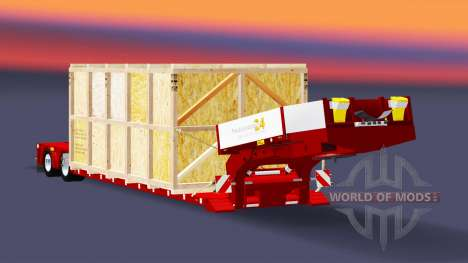 Low sweep with the goods in a wooden crate for Euro Truck Simulator 2