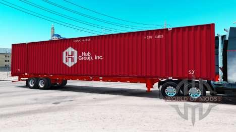 Semitrailer container Hub Group Inc for American Truck Simulator