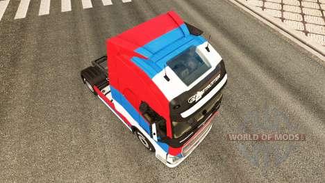 Serbia skin for Volvo truck for Euro Truck Simulator 2