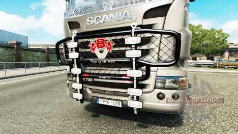 The bumper V8 v3.0 truck Scania for Euro Truck Simulator 2