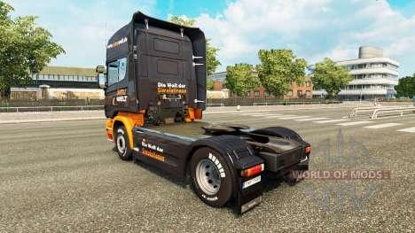 Skin Simuwelt on tractor Scania for Euro Truck Simulator 2