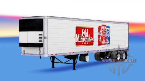 Skin Old Milwaukee on the trailer for American Truck Simulator