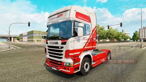 TruckSim skin for Scania truck for Euro Truck Simulator 2