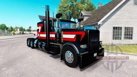 Black Metallic skin for the truck Peterbilt 389 for American Truck Simulator