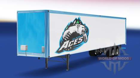 Skin Alaska Aces on the trailer for American Truck Simulator