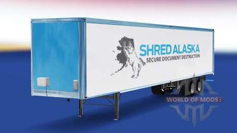 Skin Shred Alaska on the trailer for American Truck Simulator