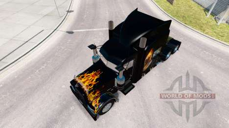 Skin Ghost Rider v2.0 tractor Peterbilt 389 for American Truck Simulator