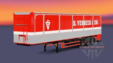 Bodex tipper semi-trailer S. Verbeek & ZN. for Euro Truck Simulator 2