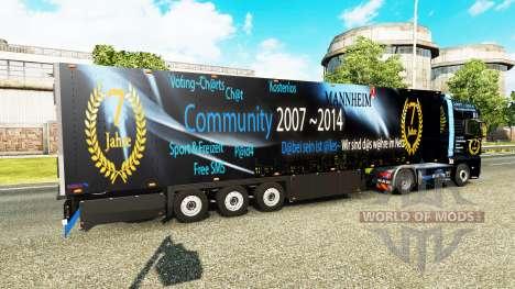 Semitrailer refrigerator Schmitz DJ Charty for Euro Truck Simulator 2