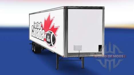 Skin Football Canada v2.0 on the semi-trailer for American Truck Simulator