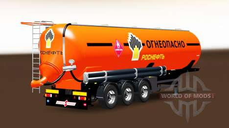 Fuel tank semi-trailer Rosneft for Euro Truck Simulator 2