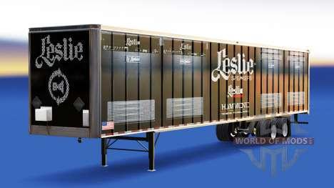 Skin Leslie Speakers on the trailer for American Truck Simulator