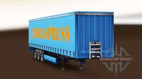 Braspress Transportes skin for trailer curtain for Euro Truck Simulator 2