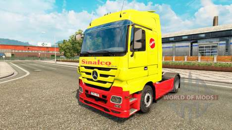 Sinalco skin for Mercedes truck Benz for Euro Truck Simulator 2